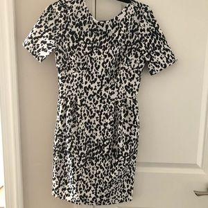 ASOS Black and White animal print dress